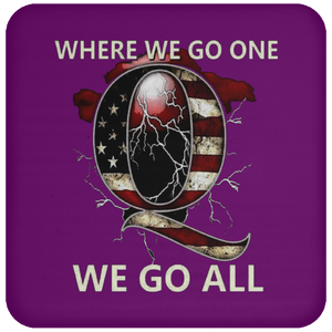 Purple WWG1WGA Q/Qanon Coaster