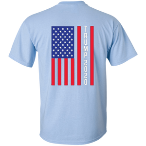 Light Blue Trump 2020 Flag Men's T-shirt