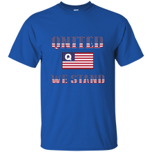 Load image into Gallery viewer, Royal Blue Qnited We Stand Q/Qanon T-shirt