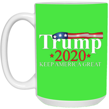 Load image into Gallery viewer, Green Trump 2020 Keep America Great Mug