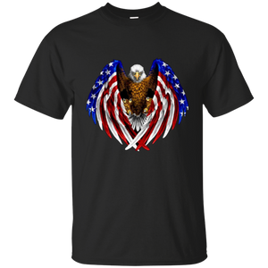 Black American Flag Eagle Wings T-shirt