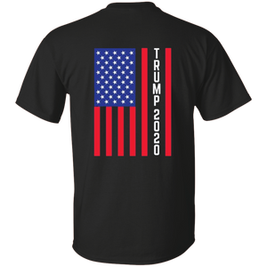 Black Trump 2020 Flag Men's T-shirt