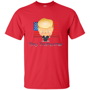 Red Trump Tiny Trumpster Kids T-shirt