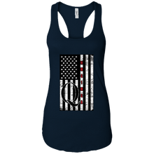 Load image into Gallery viewer, Navy Blue Qanon WWG1WGA Flag Women's Tank Top