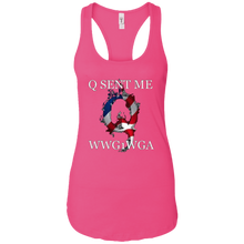 Load image into Gallery viewer, Pink Q Sent Me WWG1WGA Q/Qanon Tank Top