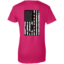 Load image into Gallery viewer, Pink Qanon WWG1WGA Flag Women's T-shirt