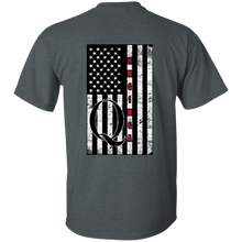 Load image into Gallery viewer, Charcoal Grey Qanon WWG1WGA Flag Men's T-shirt