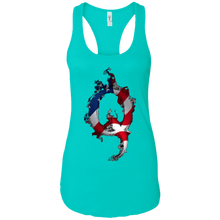 Load image into Gallery viewer, Teal American Flag Flame Qanon/Q Tank Top