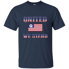 Load image into Gallery viewer, Navy Blue Qnited We Stand Q/Qanon T-shirt