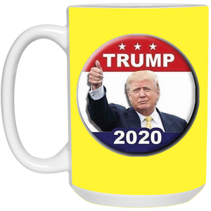Yellow Trump 2020 Ceramic Mug