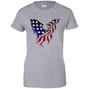 Grey Amercian Flag Eagle T-shirt