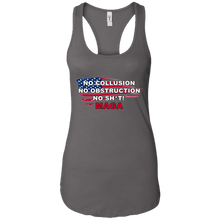 Load image into Gallery viewer, Charcoal Grey Trump - No Collusion No Obstruction No Sh*t MAGA Mug Tank Top