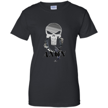 Load image into Gallery viewer, Black Qanon Punisher Skull T-shirt