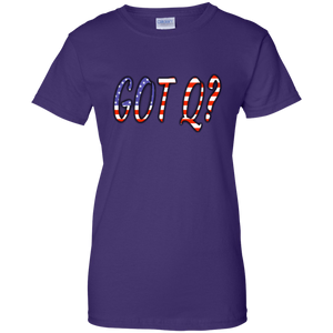 Purple Got Q American Flag Q/Qanon T-shirt