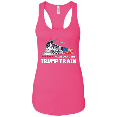 Trump All Aboard The Trump Train Women's Racerback Tank