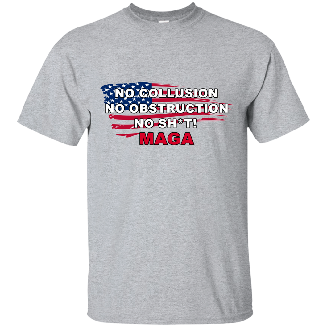Grey Trump - No Collusion No Obstruction No Sh*t MAGA Mug T-shirt