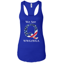 Load image into Gallery viewer, Royal Blue We Are Q WWG1WGA Tank Top