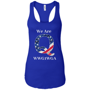 Royal Blue We Are Q WWG1WGA Tank Top