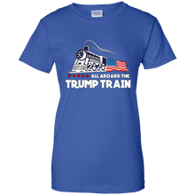 Load image into Gallery viewer, Trump All Aboard The Trump Train Women's T-Shirt