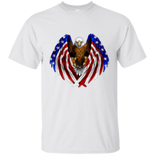 Load image into Gallery viewer, White American Flag Eagle Wings T-shirt