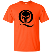 Load image into Gallery viewer, Orange Q Skull Q/Qanon T-shirt