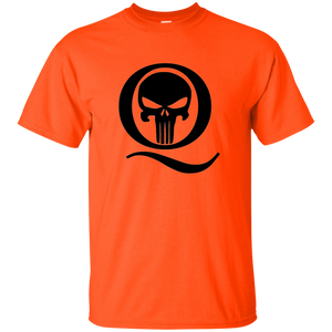 Orange Q Skull Q/Qanon T-shirt