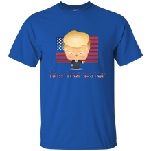 Load image into Gallery viewer, Royal Blue Trump Tiny Trumpster Kids T-shirt