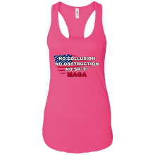 Load image into Gallery viewer, Pink Trump - No Collusion No Obstruction No Sh*t MAGA Tank Top