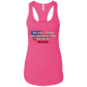 Pink Trump - No Collusion No Obstruction No Sh*t MAGA Tank Top