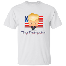 Load image into Gallery viewer, White Trump Tiny Trumpster Kids T-shirt