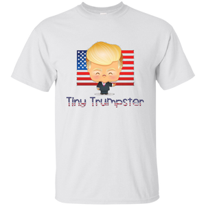 White Trump Tiny Trumpster Kids T-shirt