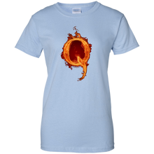 Load image into Gallery viewer, Light Blue Qanon Q On Fire T-shirt