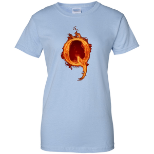Light Blue Qanon Q On Fire T-shirt