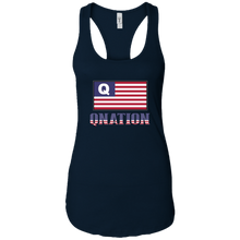 Load image into Gallery viewer, Navy Blue Qnation Q/Qanon Tank Top