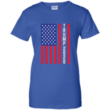 Load image into Gallery viewer, Royal Blue Trump 2020 Flag Women's T-shirt