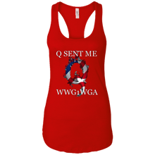 Load image into Gallery viewer, Red Q Sent Me WWG1WGA Q/Qanon Tank Top