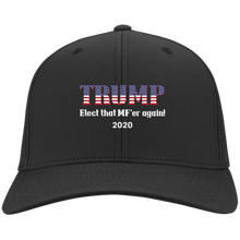 Load image into Gallery viewer, Black Trump Elect That MF'er Again 2020 Hat