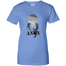 Load image into Gallery viewer, Light Blue Qanon Punisher Skull T-shirt