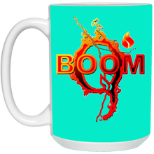 Load image into Gallery viewer, Teal Qanon Q Boom Mug