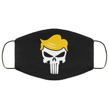 Load image into Gallery viewer, Trump/Qanon Punisher Skull Face Mask
