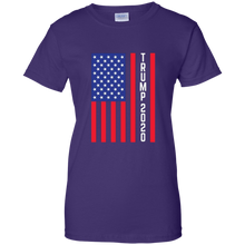 Load image into Gallery viewer, Purple Trump 2020 Flag Women's T-shirt
