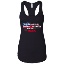 Load image into Gallery viewer, Black Trump - No Collusion No Obstruction No Sh*t MAGA Tank Top