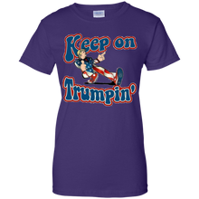 Load image into Gallery viewer, Purple Keep On Trumpin T-shirt