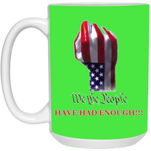 Load image into Gallery viewer, Green We The People Ceramic Mug