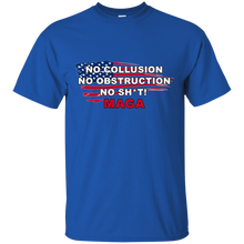 Load image into Gallery viewer, Royal Blue Trump - No Collusion No Obstruction No Sh*t MAGA T-shirt