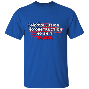 Royal Blue Trump - No Collusion No Obstruction No Sh*t MAGA T-shirt