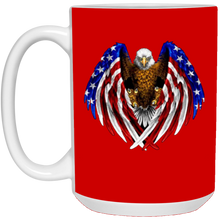 Load image into Gallery viewer, Red American Flag Eagle Wings Mug
