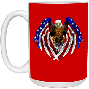 Red American Flag Eagle Wings Mug