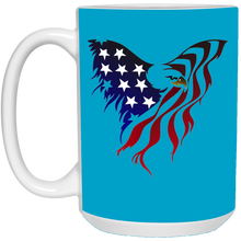 Load image into Gallery viewer, Blue Amercian Flag Eagle Mug