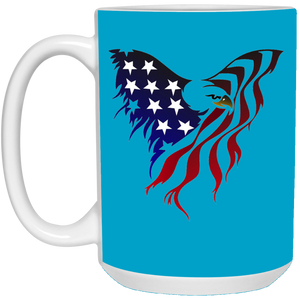 Blue Amercian Flag Eagle Mug